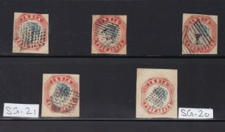 INDIA: 1854 LITHO VF STAMPS LOT,  HUGE CV. 2