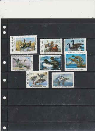 Stamps United States Back Of The Book Duck Stamps