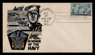 Dr Who 1945 Navy Fdc Pearl Harbor To Tokyo Staehle Cachet C98314