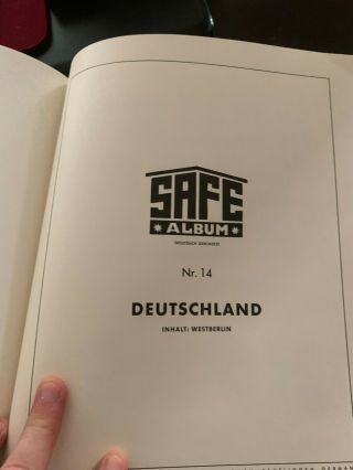 White Ace Album Full Of German And French Stamps.  High Dollar Value.