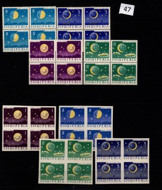/ 4x Albania - Mnh - Perf,  Imperf - Space - Moon
