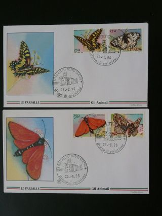 Insect Butterfly 1996 X2 Fdc Italy 87595