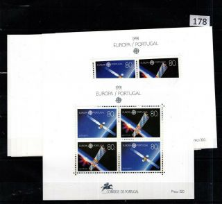 11x Portugal 1991 - Mnh - Europa Cept - Space -