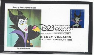 Sleeping Beauty Maleficent Fdc 2017 Anaheim,  California Only One Made Disney