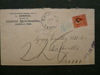 1904 Cassville Tn Dpo White Co.  L.  Arnold Gen.  Merch
