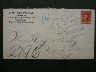 1904 Statesville Tn.  Dpo Wilson Co.  J.  W.  Armstrong Blacksmith,  Woodwork