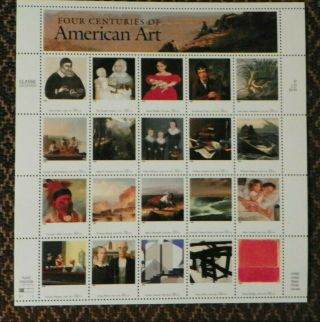 Scott 3236 Four Centuries Of American Art Mnh Sheet Of 20 Stamps