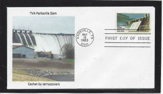 Tva Tennessee Valley Authority F Fdc 1983 Knoxville,  Tn Only One Made