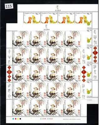 ,  20x Tonga 2018 - Mnh - Dogs - Animals