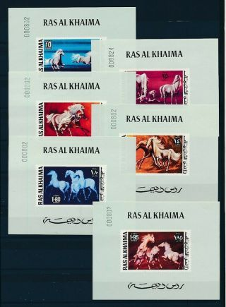 D000873 Horses Paintings Mnh Set Of S/s