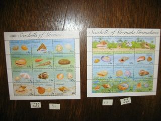 Y7 Grenada Grenadines Ss Shells Theme $26 Scv