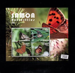 // Samoa - Mnh - Butterflies - Nature - Plants - 2015
