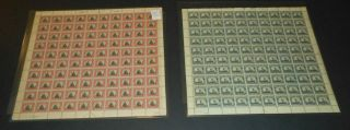 620 & 621 Norse - American Set Mnh Full Sheets