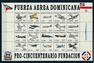 D000826 Aircrafts Sheetlet Mnh Dominican Republic