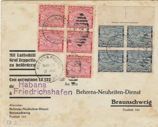 Zeppelin Panama To Germany Via Habana Air Cover 1930 Exhibition Piece