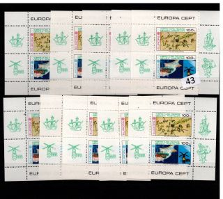 / 10x Turkish Cyprus - Mnh - Europa Cept 1983 - Space - Ships