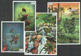 R744 Antigua & Barbuda Fauna Birds Of The Caribbean Expo 2000 2bl,  2sh Mnh