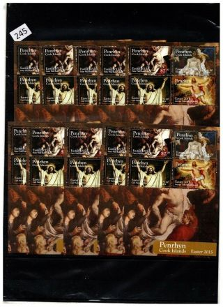 10x Penrhyn 2015 - Mnh - Painting - Religion -