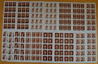 T938.  Ajman - Mnh - Famous People - Churchill - Gaulle - Full Sheet -