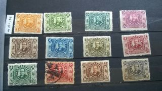China 1912 Dr.  Sun Revolution 1/2c To $5 Mixed Set