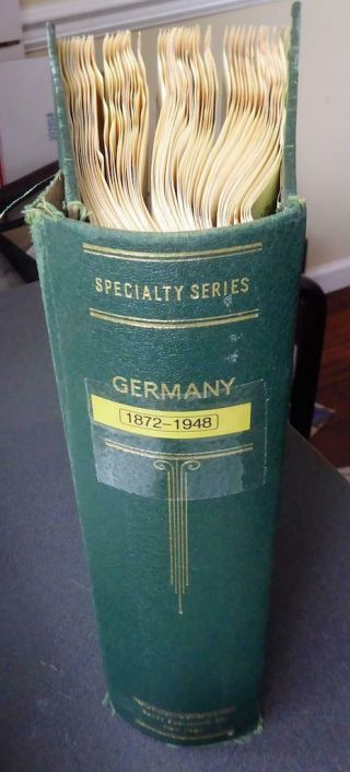 Powerful Germany & Stamps In An Old Scott Album -
