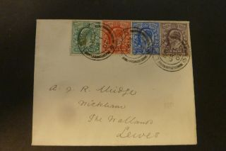 Gb 1902 1st January Edward Vii First Day Cover 1/2d,  1d,  2 1/2d,  6d Fine