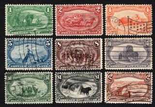 Usa 1898 Set Of Stamps Scott 285 - 293 Cv=2172$