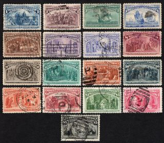Usa 1893 Set Of Stamps Scott 230 - 245 Cv=4816$