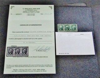 Nystamps Us Stamp 32 33 (1) Strip Of 3 $625