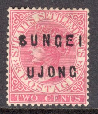 Malaya Sungei Ujong 1882 - 84 Type 17,  14 Overprint On 2c Un. ,  Sg 20 Cat £150