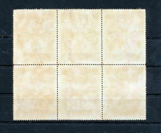 MONGOLIA 1926 High Value $1 Block of Six Stamps (MT 459s 2