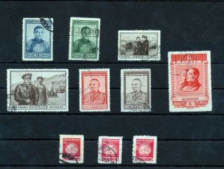 Mongolia 1953/54 (10 Stamps) (mt 377s