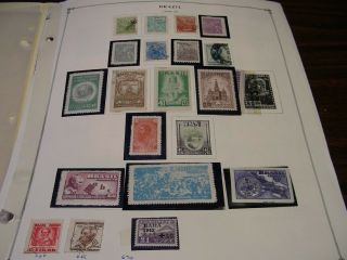 Drbobstamps Brazil Large & (generally F - Vf) Stamp Lot On Scott Pages
