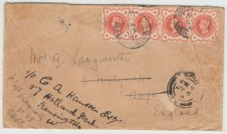 Boer War 1901 Multi Franked Cover To Oxford With F.  P.  O.  British Army S.  Africa