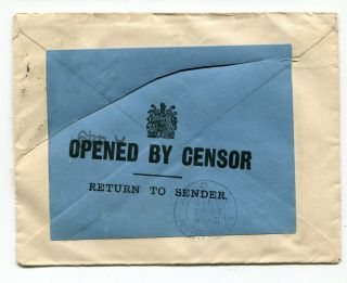 Uk Gb - 1915 George V Cover To Holland - Opened & Returned To Sender By Censor -