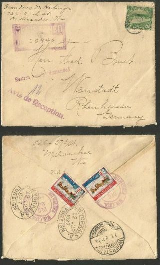Us 1927 - Registered Cover Milwaukee To Germany