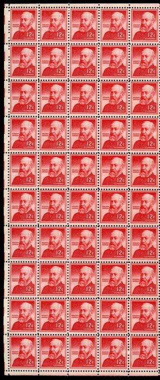 United States 1045 Benjamin Harrison Complete Sheet Of 100 Never Hinged