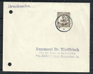 German East Africa Covers 1911 Cover Moschi To Weimar