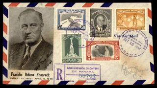 Mayfairstamps Panama 1948 Fdr Set Registered First Day Cover Wwb79711