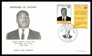 Mayfairstamps Dahomey 1968 Martin Luther King Jr Fdc First Day Cover Wwb60771