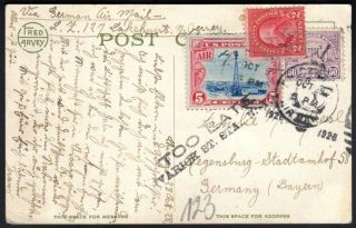 """"""" Too Late """" On Graf Zeppelin Card To Germany,  With Beacon Air Mail,  C11,  Etc."""