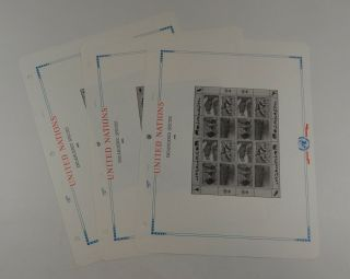 White Ace United Nations 1994 UNMS - 94 Miniature Sheets Stamp Album Pages 2
