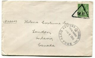 Uk / Canada 1918 Printed Rate Cover To London,  Ont - Customs / Duty Cancel