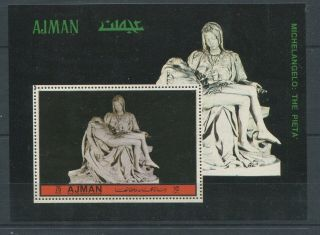 Od 1959.  Ajman.  Art.  Sculpture.  Michelangelo.  Mnh.