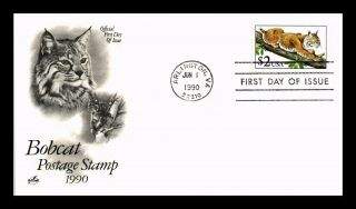 Dr Jim Stamps Us Bobcat High Value First Day Cover Art Craft