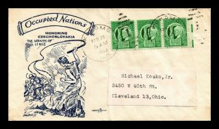 Dr Jim Stamps Us Occupied Nations Czechoslovakia Pent Arts Cover 1944