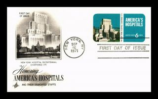 Dr Jim Stamps Us Americas Hospitals Fdc Postal Card Art Craft York