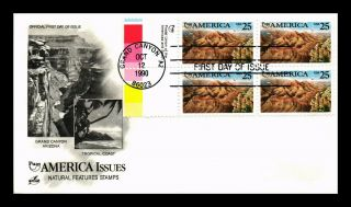 Dr Jim Stamps Us Puas America Grand Canyon Fdc Cover Block Art Craft