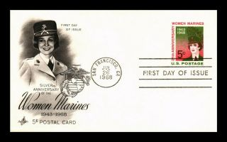 Dr Jim Stamps Us Women Marines Fdc Postal Card Art Craft San Francisco