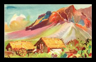 Dr Jim Stamps Huasteca Monterrey Mexico Artist Signed Art View Postcard